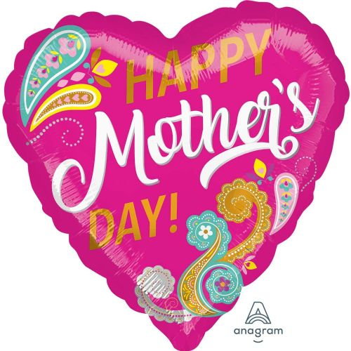 Happy Mother's Day Paisley Standard Foil Balloons S40